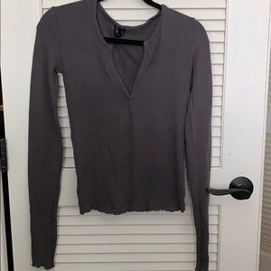 """urban outfitters """"out from under"""" long sleeve"""